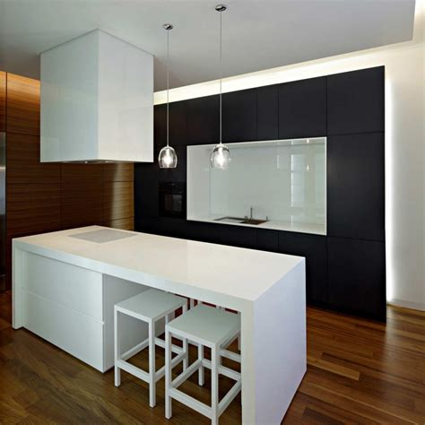 downtown apartment modern kitchen interior design decobizz com