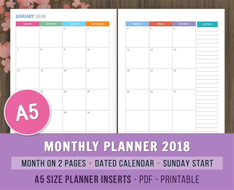 2018 my 2018 planner large weekly dated books 2018 monthly planner monthly calendar dated calendar weekly