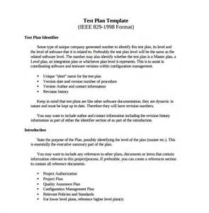 Template For Test Plan by Sle Software Test Plan Template 7 Free Documents In Pdf
