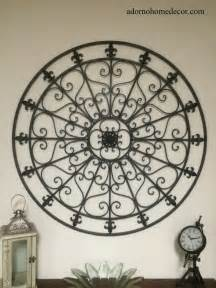 Iron Wall Decor by Large Wrought Iron Wall Decor Rustic Scroll Fleur De