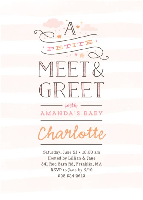 Sle Invitation For Meet And Greet Baby Shower Invitations Meet Greet At Minted