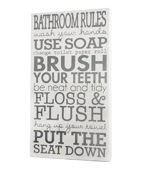 bathroom rules art white bathroom rules wall art cute pinterest