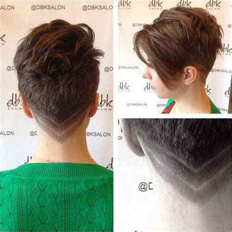 w cut in back of head womens short hairstyles shaved back hair