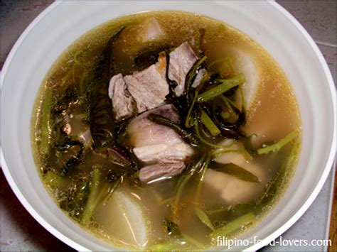 Comfort Tagalog by Pork Sinigang Is A Comfort Food Its A Unique Flavor Made Using Tamarind There
