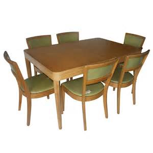 Dining Table And Chair Set Vintage Oak Dining Table And 4 Side Chairs Set Ebay