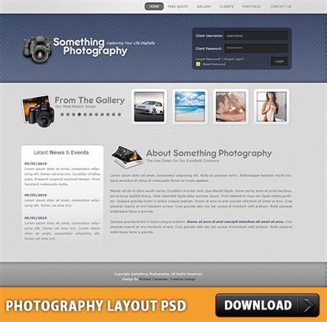 layout design psd download photography layout free psd download download psd