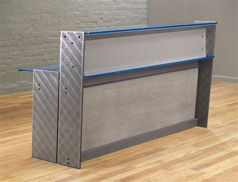 steel reception desk steel reception desk stoneline designs