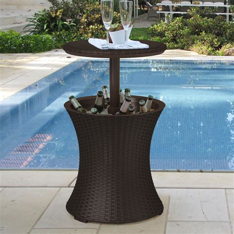 Patio Table With Cooler Keter 218305 Pacific Outdoor Cooler Table Atg Stores