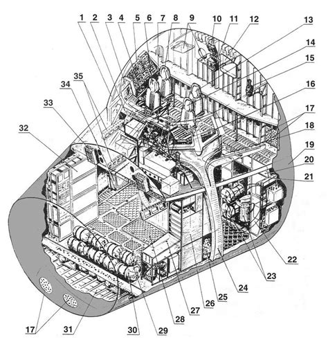 interior layout of space shuttle buran crew compartment layout aerospace cutaways and