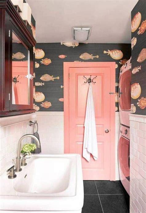 catchy bathroom wallpaper ideas shelterness