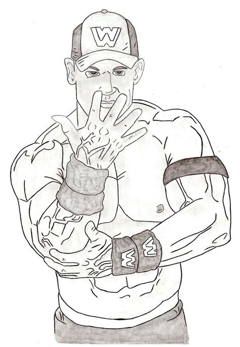 Professional Wrestler John Cena Coloring Pages Womanmate Com Cena Coloring Pages To Print