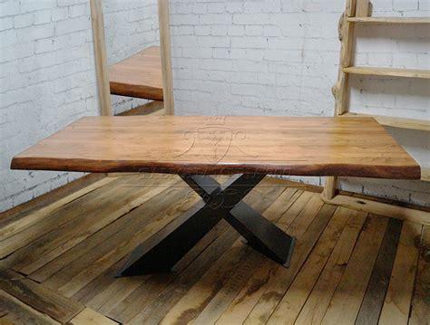tavoli in legno massiccio tavolo in legno massello di castagno modello x design