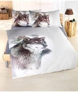 parure de lit loup en coton renforc 233 vente en ligne