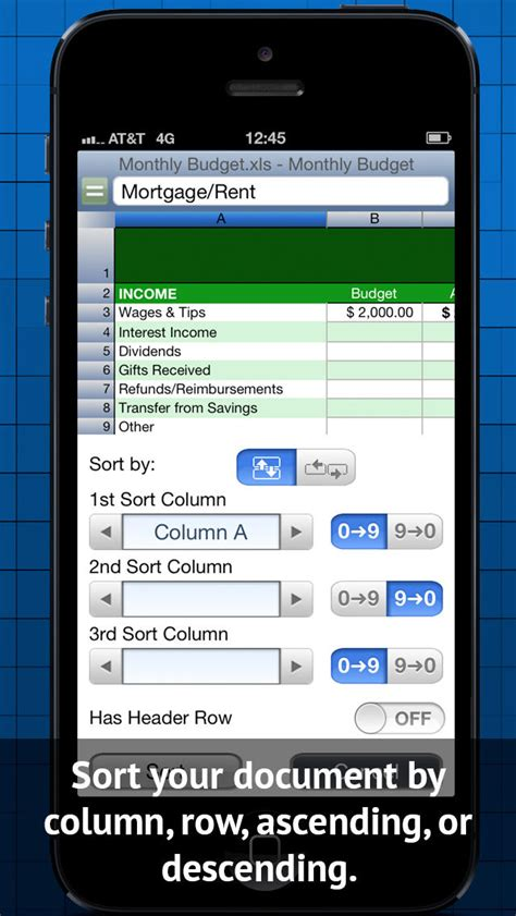 Free Spreadsheet App Iphone by Calc Lite Spreadsheet Ios