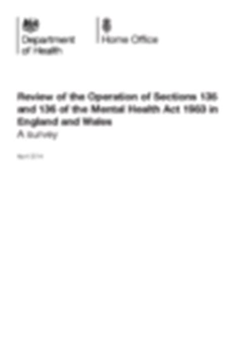 review of the operation of sections 135 and 136 of the