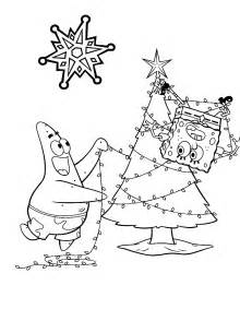christmas spongebob free coloring pages on art coloring