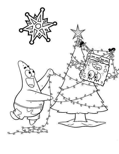 spongebob merry christmas coloring pages best photos of spongebob christmas coloring pages