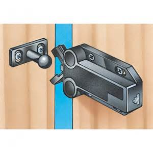 Lock For Cabinet Doors Safe Push Touch Latches Select Size And Color Rockler Woodworking Tools