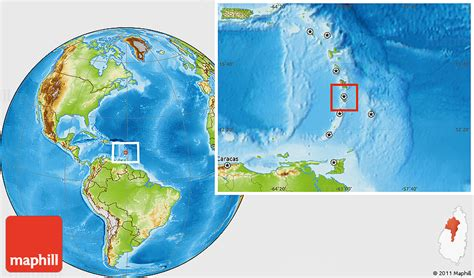 lucia location on world map physical location map of castries