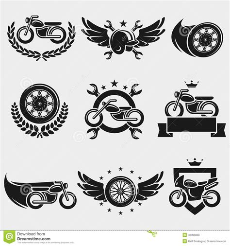 Sticker Honda Icon by Motorcycles Labels And Icons Set Vector Stock Vector