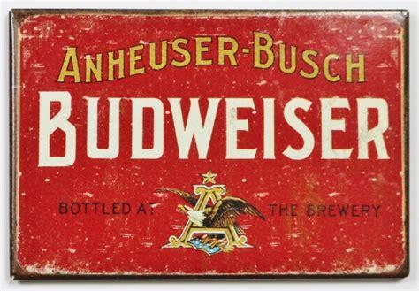 printable budweiser label anheuser busch budweiser beer fridge magnet brewery label