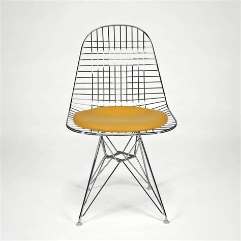 eames side chair cushion wire side chair dkr with seat cushion by charles and