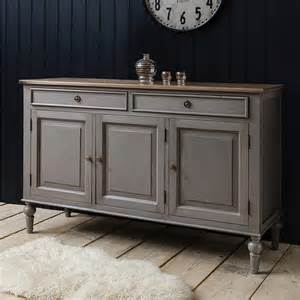 Credenza Bed Painted Grey Sideboard With Wooden Top By Primrose Amp Plum