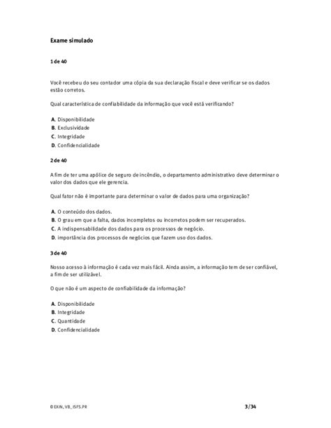 Simulado EXIM ISO27002