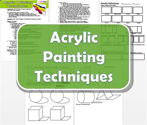 acrylic paint techniques pdf acrylic painting techniques lesson plan and worksheet