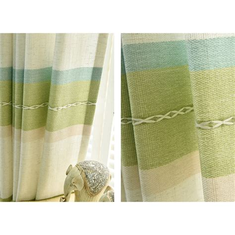 green horizontal striped curtains lime green horizontal striped print linen cotton custom