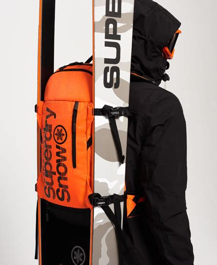 Ultimate Polo Backpack mens ultimate snow service backpack in strong orange superdry