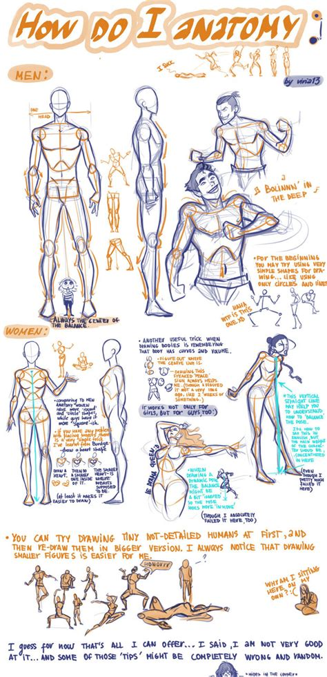doodle drawings tutorial how do i anatomy by viria13 on deviantart