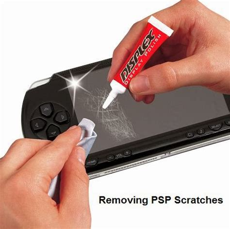 Zerkratztes Display Polieren by How To Remove Scratches From My Psp Lcd Screen Using