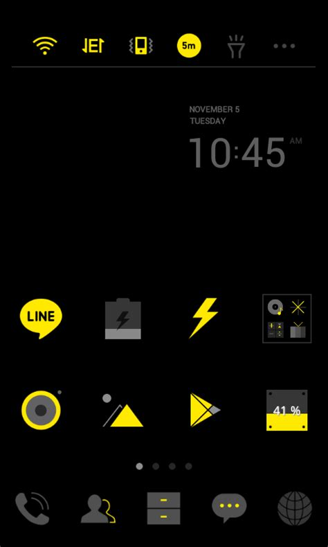 theme line yellow download darkyellow line launcher theme android apps on google play