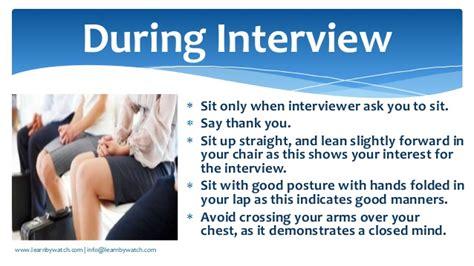 Lean Forward Chair Interview Behaviour And Body Language