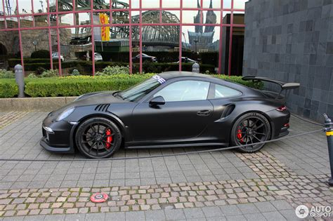 porsche gt3 rs matte black porsche 991 gt3 rs 28 februar 2016 autogespot