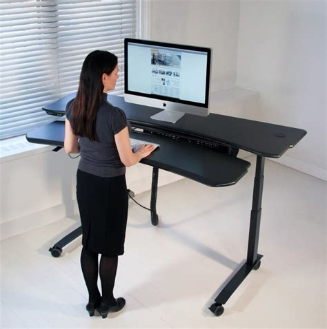 adjustable standing computer desk ergonomic adjustable desks standing computer desk