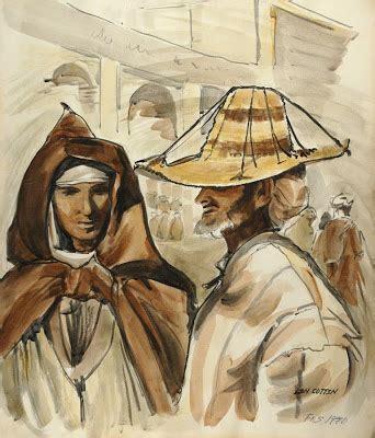 Moraccan Len by Len Cutten Artist Moroccan Sketchbook 1970