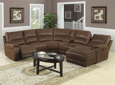 Leather Sectional Sofas With Recliners And Chaise Leather Sectional Sofa With Chaise Home Furniture Design