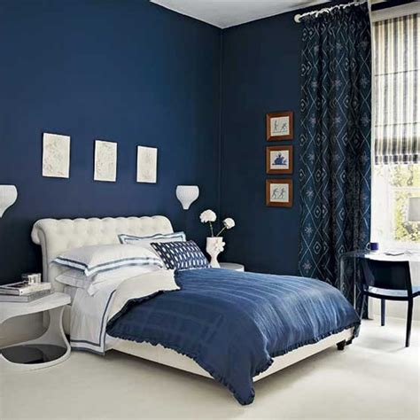 dark blue curtains bedroom creating ideal bedroom ambience