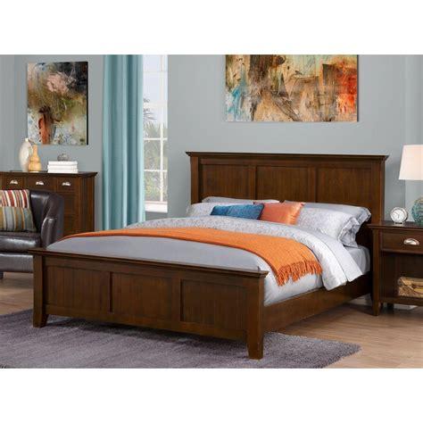 pine headboard and footboard simpli home acadian pine wood queen headboard and