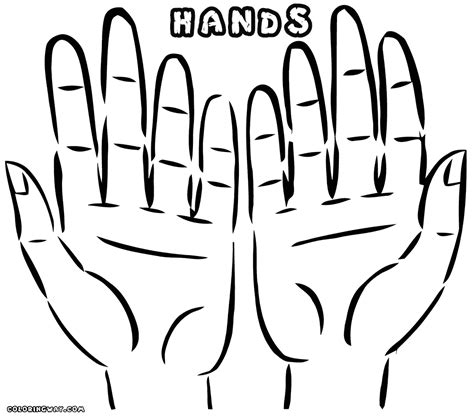 coloring pages of two hands hands coloring pages coloring pages to download and print