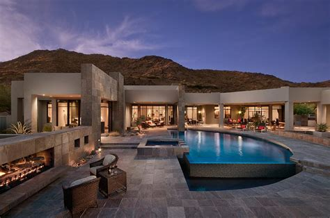 luxury one story homes desert mountain mansion in photos single story luxury
