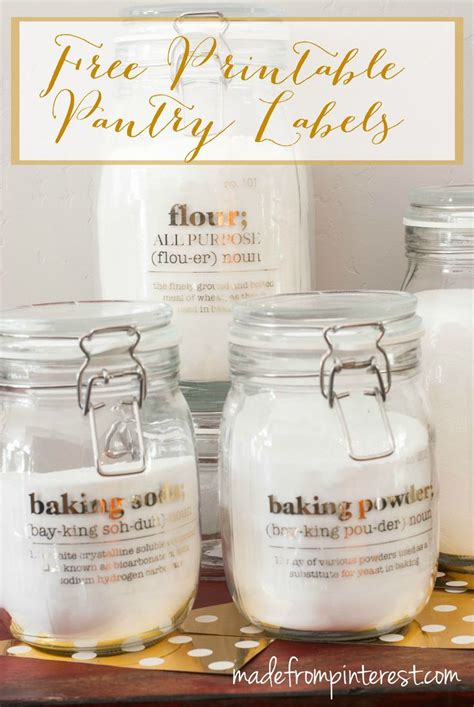 Pantry Jar Labels by Kitchen Pantry Jar Labels Pantry
