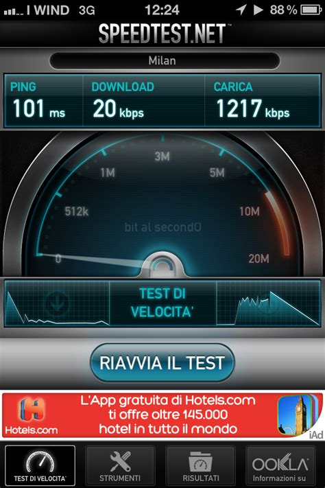 wind speed test no stop di wind sconnessi denilog