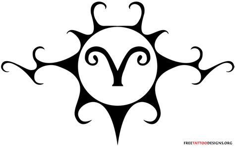 aries tribal 22 masculine aries tattoos for images frompo