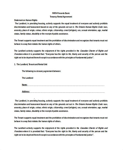 Basic Rental Agreement 10 Free Word Pdf Documents Download Free Premium Templates Basic Lease Agreement Template