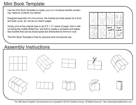 Mini Comic Book Template And Tutorial By Droakir On Deviantart Mini Book Template