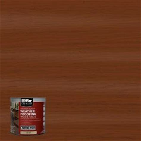 behr premium 8 oz st130 california rustic semi transparent weatherproofing wood stain sle