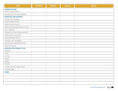 rebranding project plan template rebranding checklist
